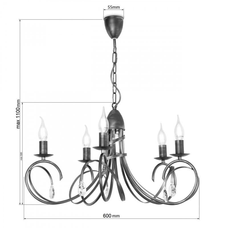 """Závěsný lustr na řetězu 18505 """"VIRGINIA CRYSTAL"""" foto5"""