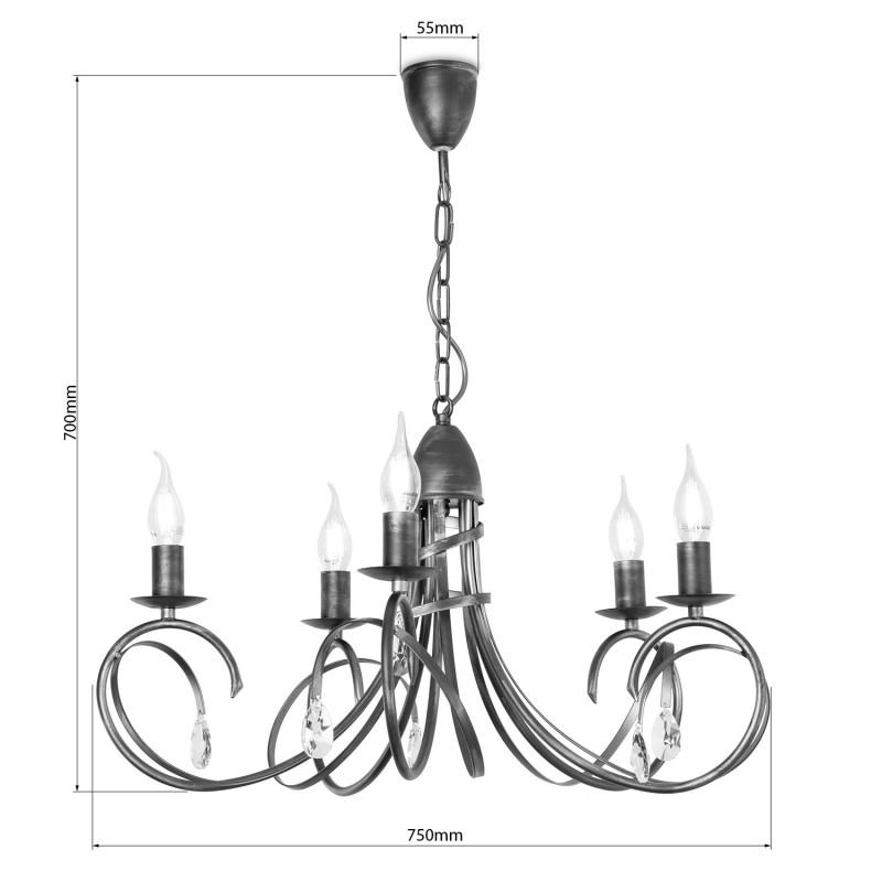 """Závěsný lustr na řetězu 18505 """"VIRGINIA CRYSTAL"""" foto3"""