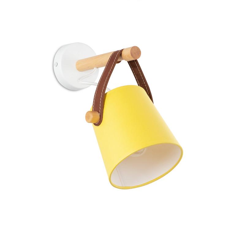 """Nástěnné svítidlo s originálním koženým řemínkem. 60201 """"RIONI"""""""