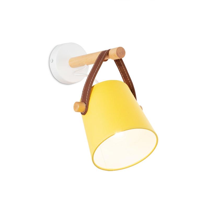 """Nástěnné svítidlo s originálním koženým řemínkem. 60201 """"RIONI"""" foto2"""