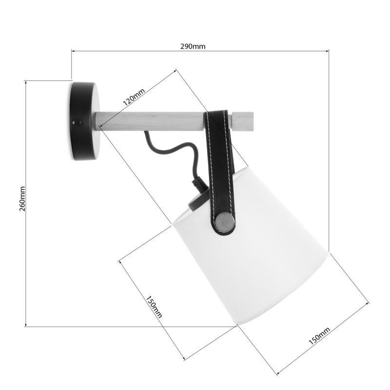 """Nástěnné svítidlo s originálním koženým řemínkem. 60201 """"RIONI"""" foto4"""