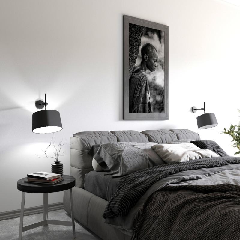 """Designové nástěnné světlo s bílým stínidlem 60401 """"Lefor"""" foto2"""