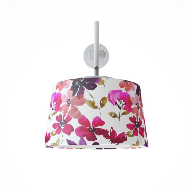 """Designové nástěnné světlo s květovaným stínidlem 60401 """"Lefor"""" foto2"""