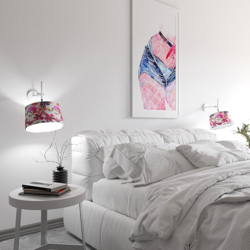 """Designové nástěnné světlo s květovaným stínidlem 60401 """"Lefor"""" foto3"""