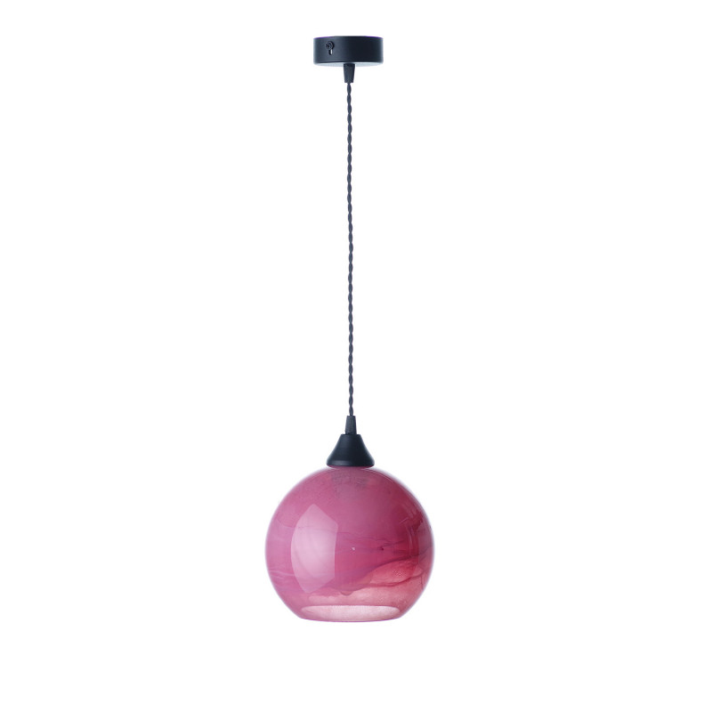 """Suspended luminaire with shade made of blown glass 19603 """"MARBLE"""" foto4"""