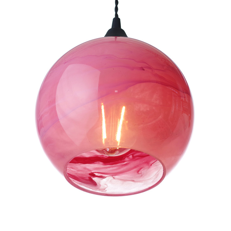 """Suspended luminaire with shade made of blown glass 19603 """"MARBLE"""" foto2"""