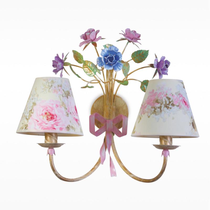 """Nástěnné světlo s různobarevnými kovovými květinami 6402 """"Romance"""""""