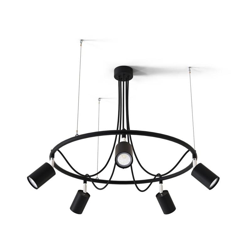 """Moderní závěsný lustr na lanku s bodovými světly    40755 """"GLAZE"""""""